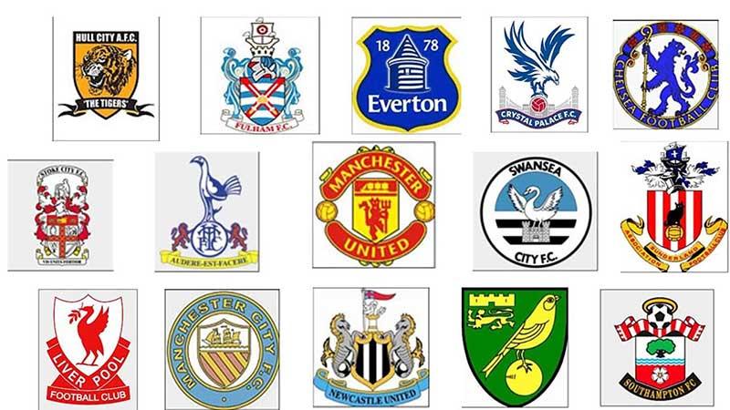 Biểu tượng của các đội bóng ở giải ngoại hạng